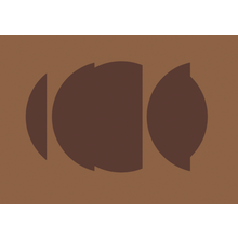 Brown shapes on a lighter brown background