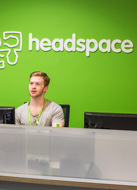 A shot of the Headspace counter