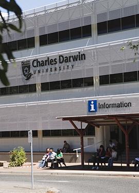 Exterior shot of a Charles Darwin University building