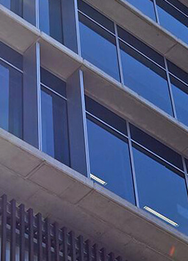 Exterior shot of an office building