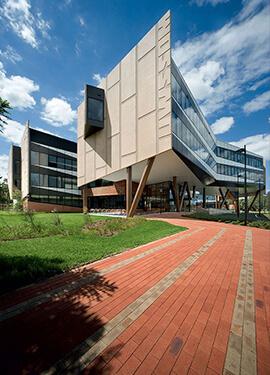 Modern building complex