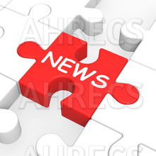 Red jigsaw piece with the word NEWS in the middle of a partially completed white puzzle