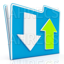 Download And Upload Icon Shows Transferring File Data