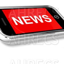News headline on smart phone screen