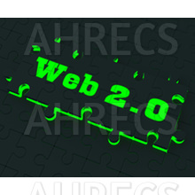 Glowing puzzle has 'Web 2.0' in large characters.