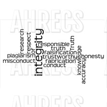 Word cloud around the concept of research integrity