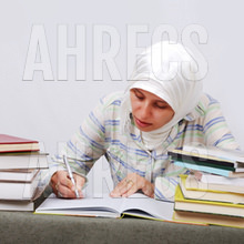 A young muslim female student