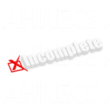 The word incomplete in white 3d resting on a white background