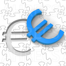 Euro Puzzle Showing Europe Finances And Currency