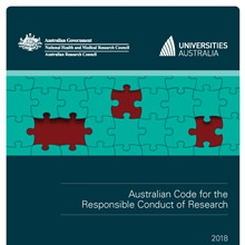 Australian Code 2018 cover with some puzzle pieces missing