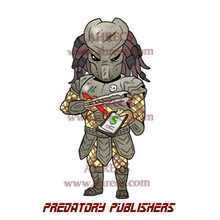 Cartoon of the alien hunter from the Predator movies