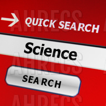 Search engine on a computer with word science in the search field