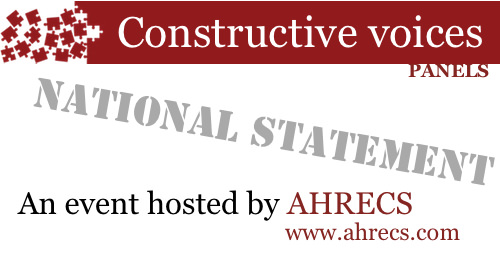 Graphic for the Constructive Voices AHRECS organised