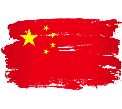 Artistic render of the Chinese flag