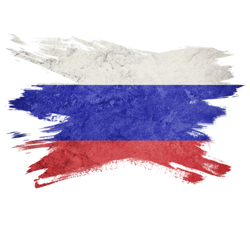 Artistic version of the Russian flag