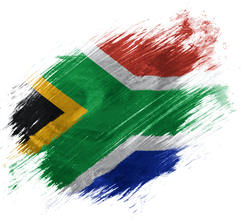 Artistic rendering of South African flag