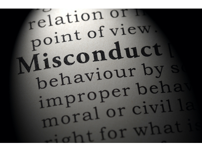Dictionary definition of misconduct