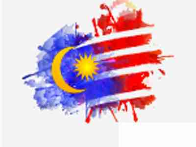 Artistic treatment of the Malaysian flag