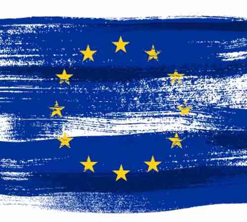 Artistic treatment of the EU flag