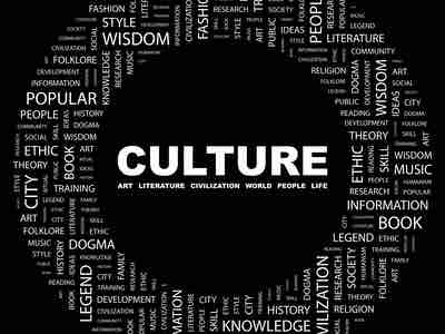 "A circle of words relating to ""CULTURE"""