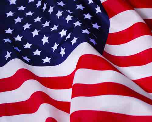 A partial picture of the US flag