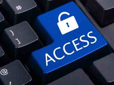 """The word """"ACCESS"""" and a padlock on a keyboard key"""