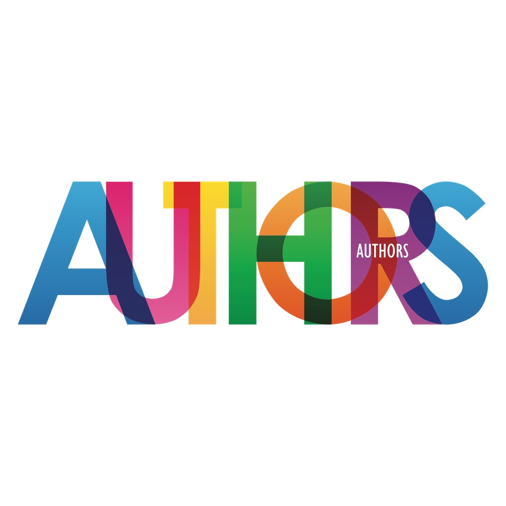 "The word ""AUTHORS"" in translucent overlapping letters"