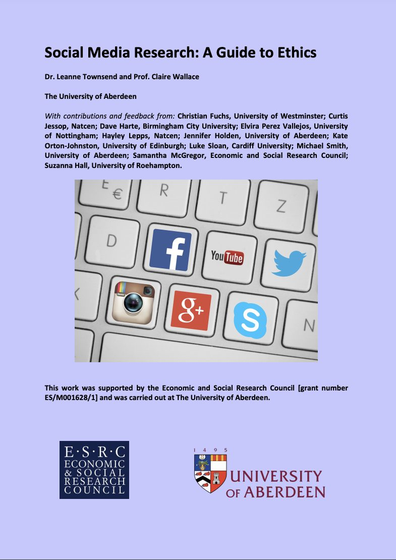 Cover of The Social Media Guide, University of Aberdeen - 2016
