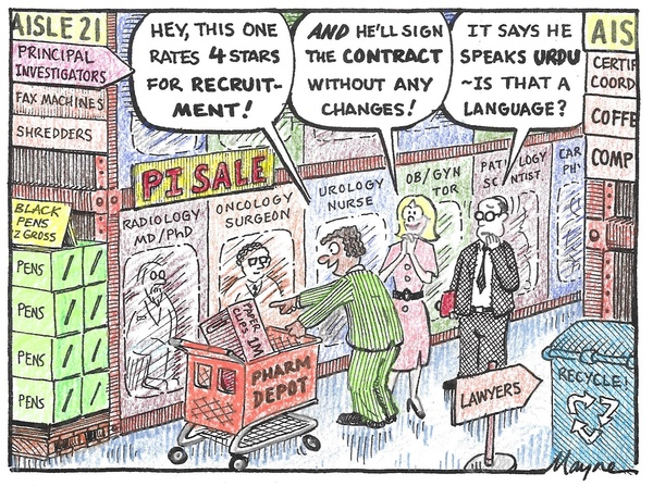 A funny cartoon about shopping at the PI superstore