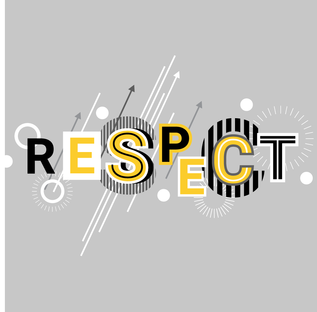 """The word """"RESPECT"""" in a postmodern style"""