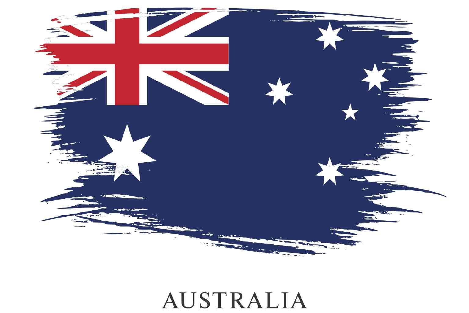Artistically stressed Australian flag