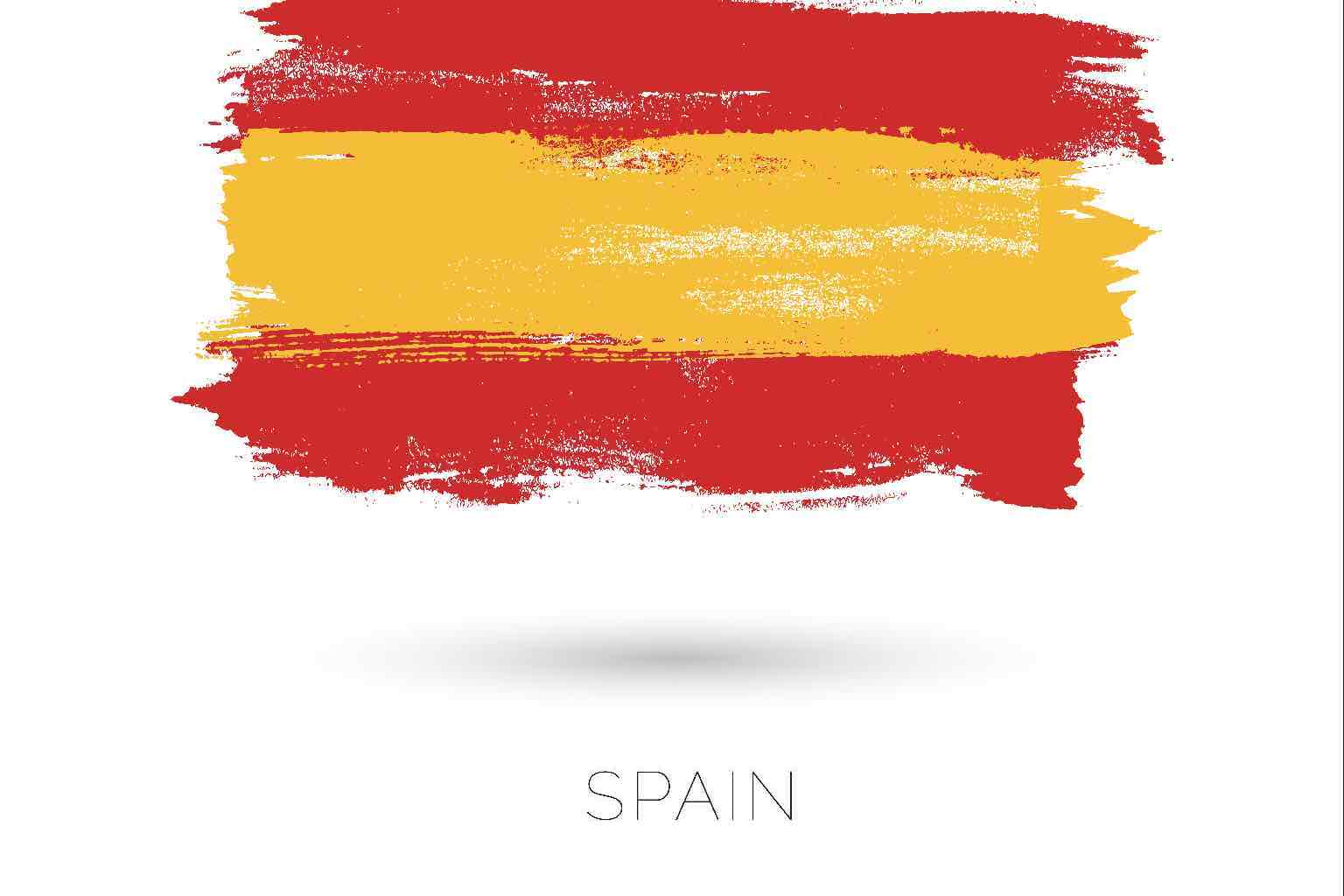 Artistic stressed version of the Spanish flag