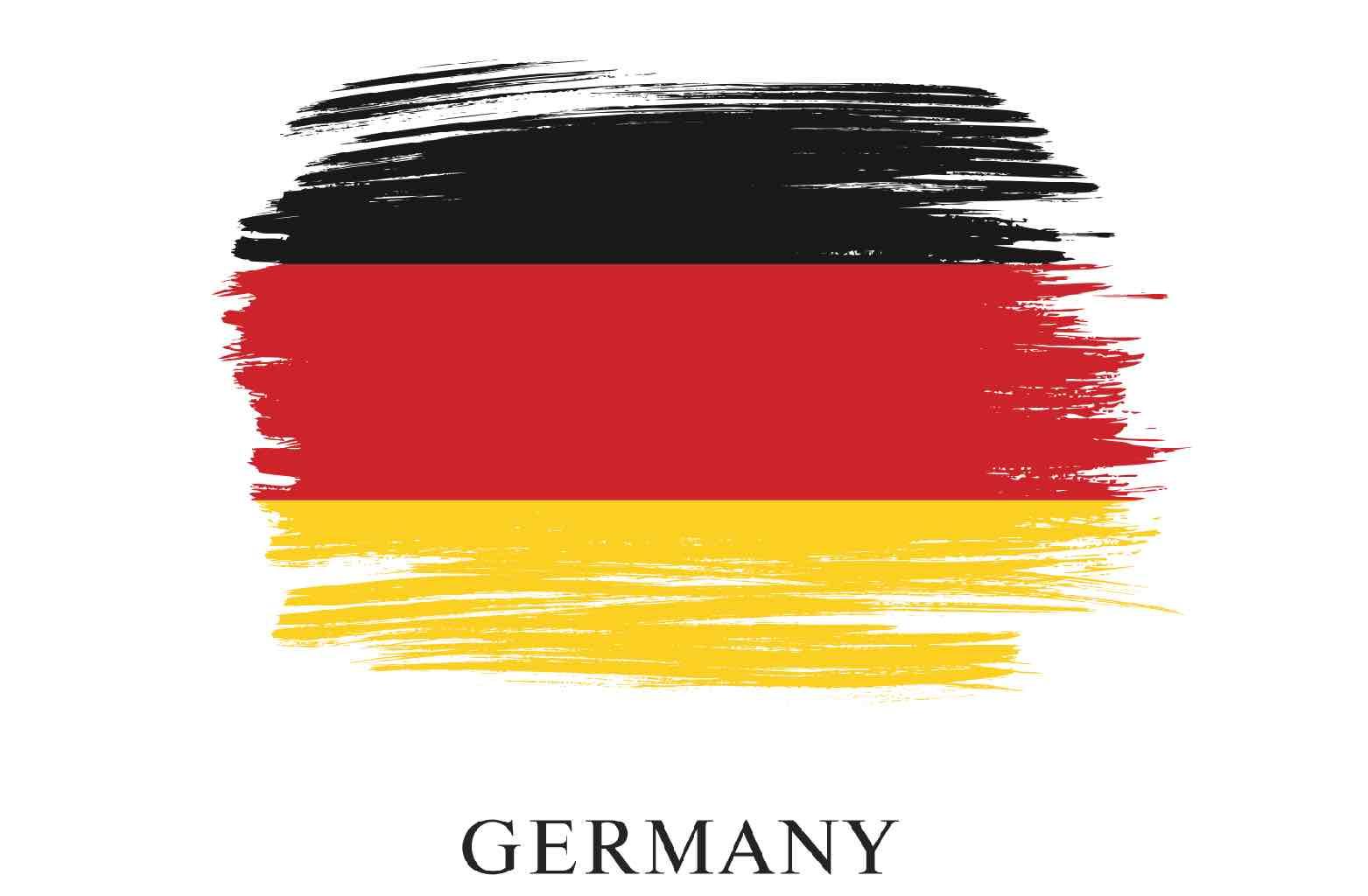 Artistic stressing of German flag