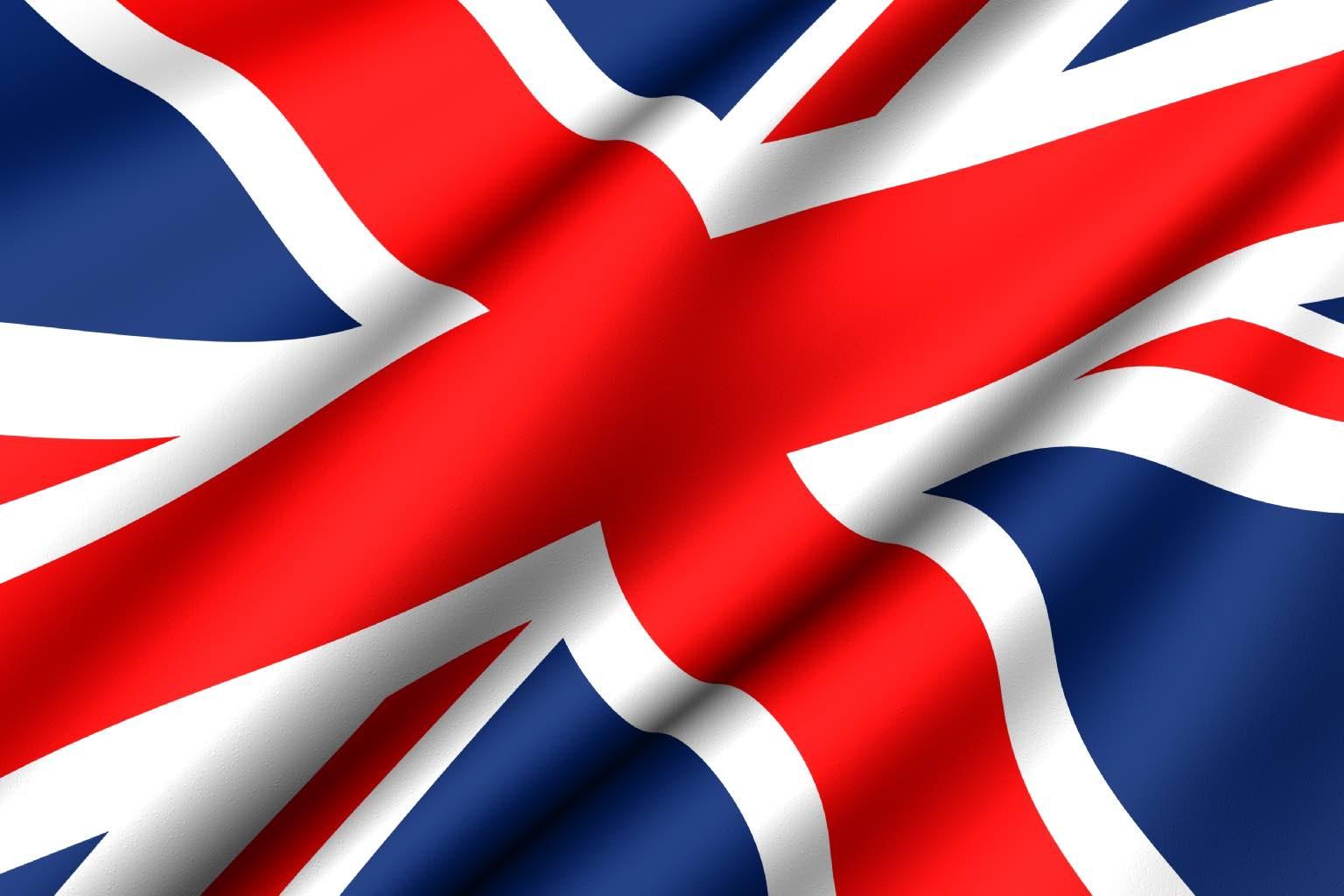 Rippling flag of the UK