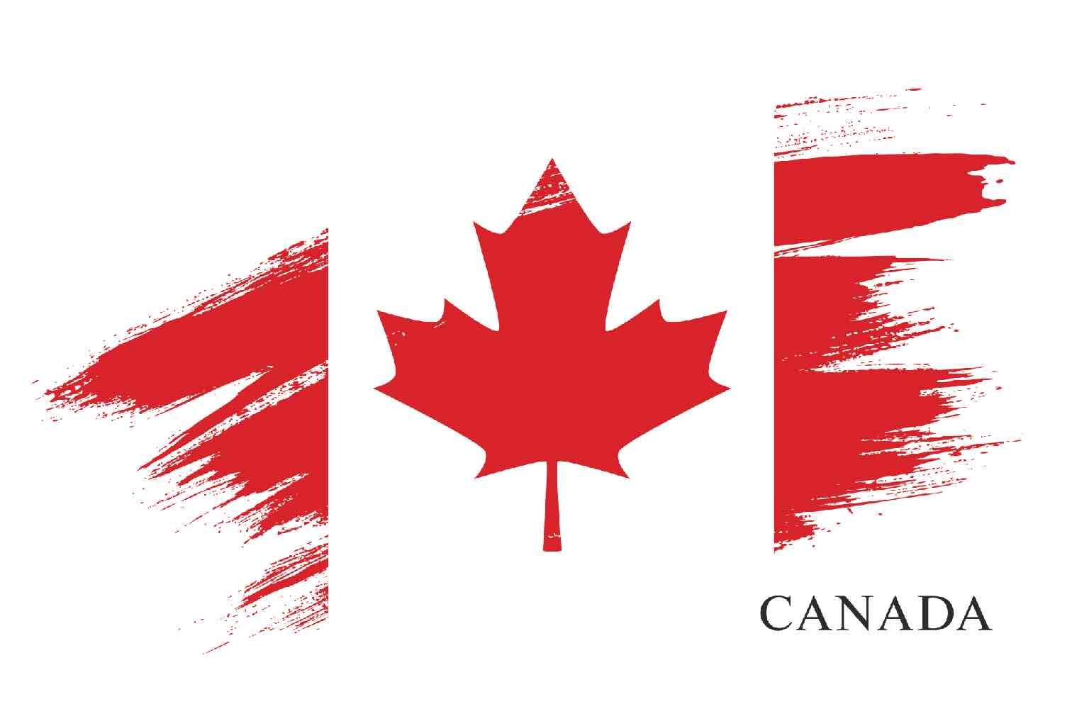 Artistically stressed Canadian flag