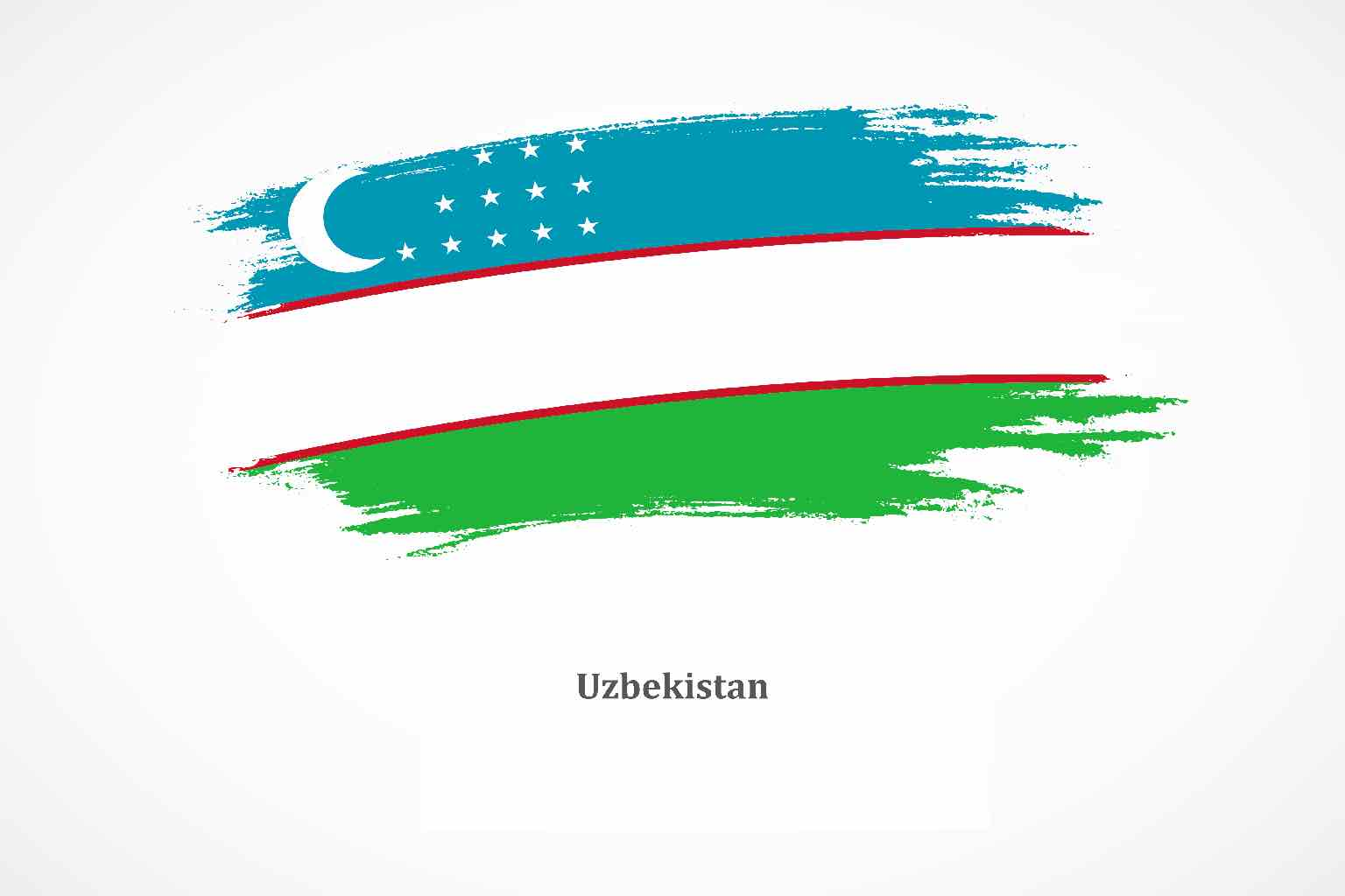 An artistically stressed flag of Uzbekistan