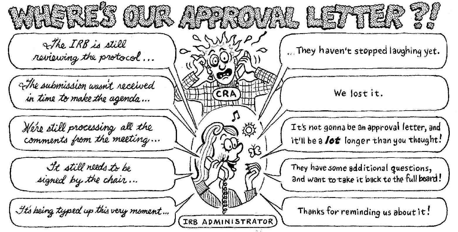 A funny cartoon about the reasons a review feedback letter is late