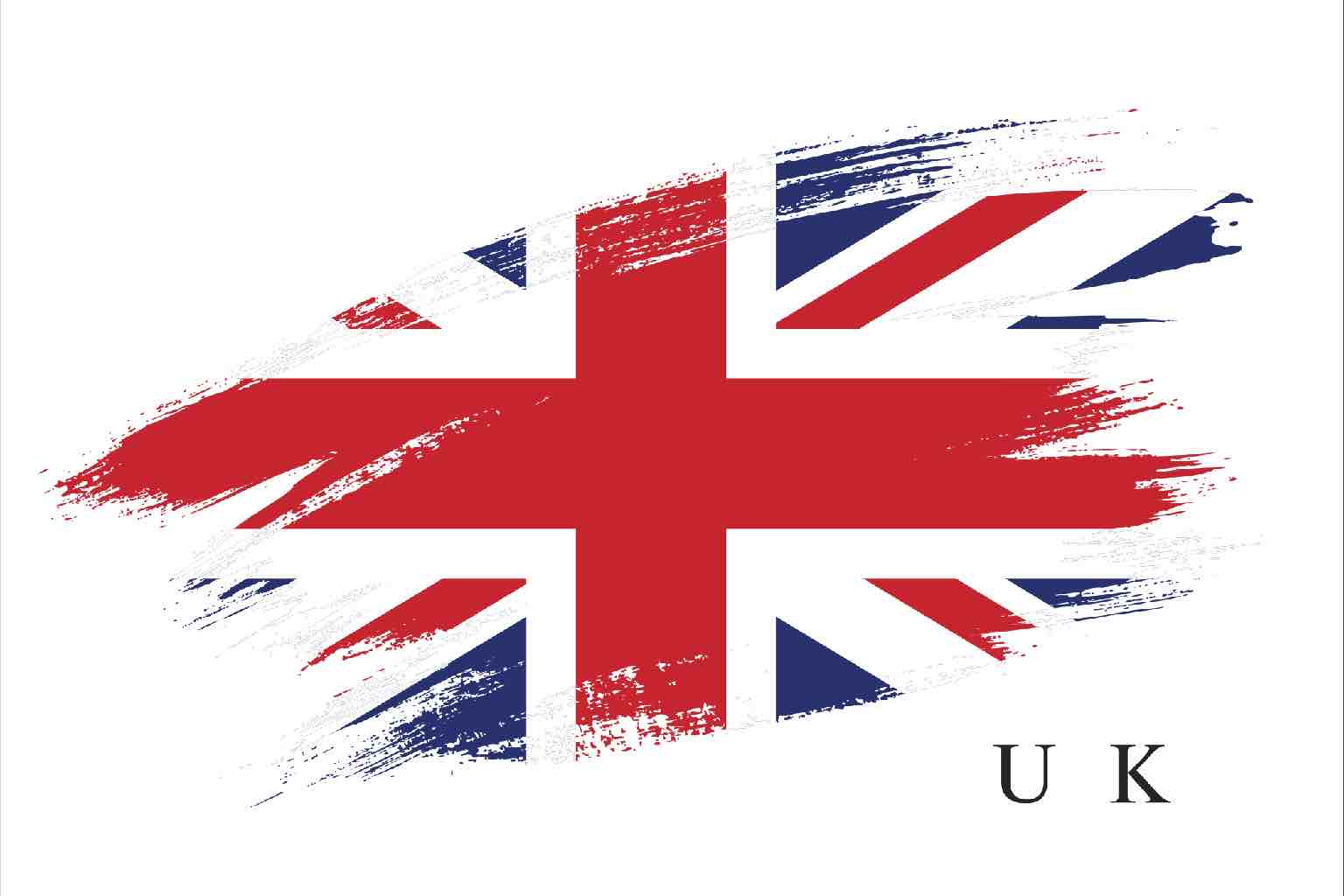 Artistic treatment of UK flag